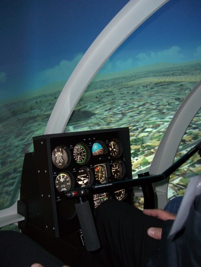 Platinum Simulators Professional Helicopter SImulator Robinson Cockpit