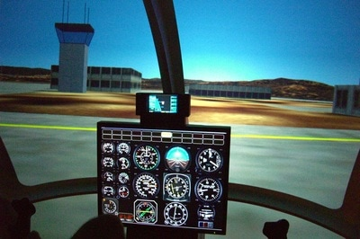 Platinum Simulators Professional Helicopter SImulator Instrument Panel